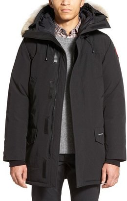 Men's Canada Goose Langford Slim Fit Down Parka With Genuine Coyote Fur Trim $925 thestylecure.com