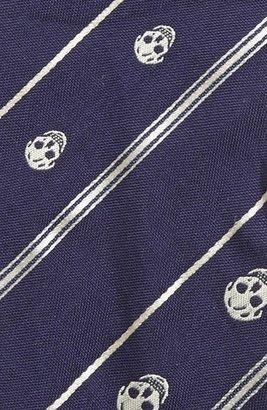 Alexander McQueen Skull Stripe Bow Tie