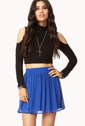 Forever 21 Girly Chiffon Skirt