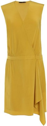 Tibi Solid Silk Wrap Dress