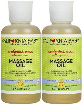 California Baby Massage Oil- Eucalyptus Ease - 4.5 oz - 2 pk