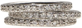 Dillard's sterling collection cz stackable ring set