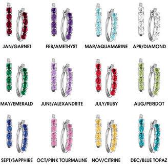 Avon Birthstone Colored Hoop Earrings