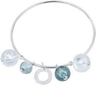 Murano Antica Murrina Loop Glass Charm Bangle Bracelet