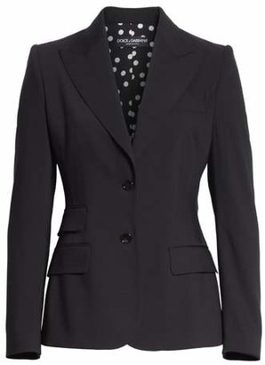 Dolce & Gabbana Two Button Stretch Wool Jacket