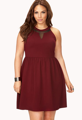 Forever 21 FOREVER 21+ Bold Textured Fit & Flare Dress