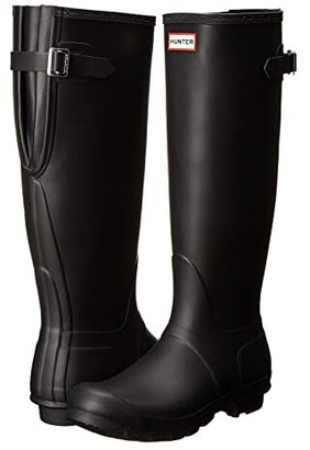 Hunter Back Adjustable (Black) Women's Rain Boots