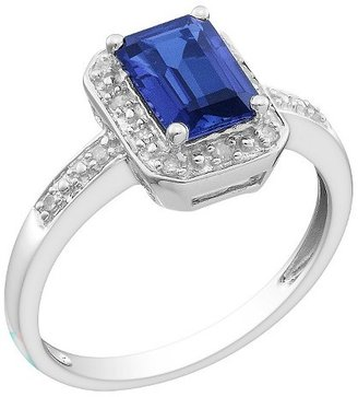 Allura Diamond and Created Sapphire Ring