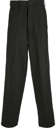 Ann Demeulemeester striped herringbone wide leg trouser