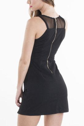 Standard Issue Sheer Shoulder Double Zip Dress