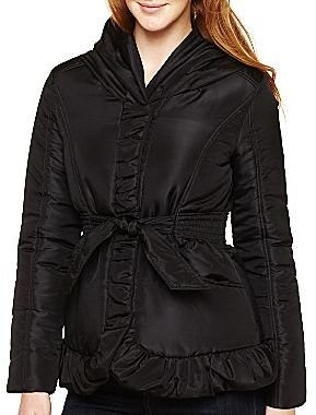 Coffee Shop Pillow-Collar Belted Coat