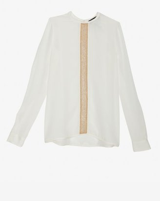 DSquared Dsquared2 Blouse With Gold Embellished Strip