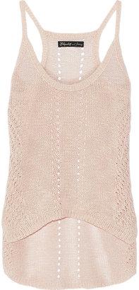 Elizabeth and James Slouchy crochet-knit linen-blend tank