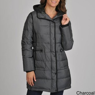 London Fog Women's Quilted Down Coat with Removable Hood $99.99 thestylecure.com