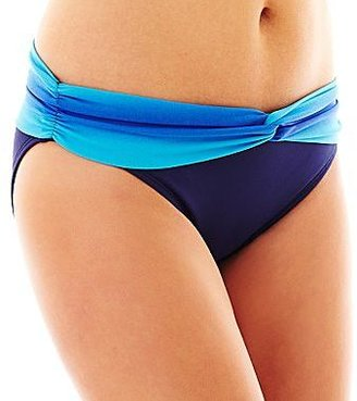 Liz Claiborne Ombré Bandeaukini Swim Top or Hipster Bottoms