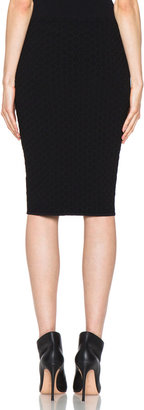 Alexander McQueen Honeycomb Pencil Skirt in Black