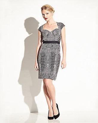 Betsey Johnson Animal Print Cap Sleeve Dress