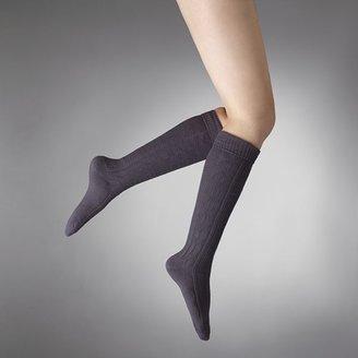 Vera Wang Simply vera chunky cable-knit knee-high socks