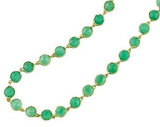 Irene Neuwirth Small Rose Cut Chrysoprase Chain - 34'' - Yellow Gold