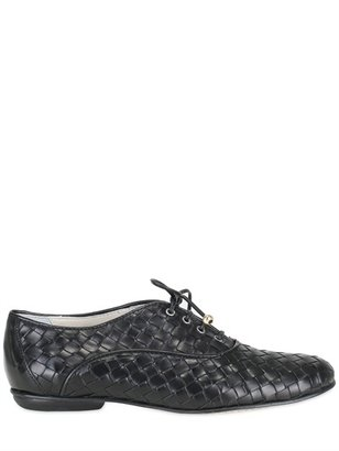 Beatrix Ong Woven Leather Lace-Up Shoes