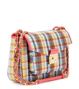 Fendi Be Baguette woven leather shoulder bag