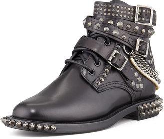 Saint Laurent Chain-Detail Ankle Boot