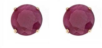 5mm Round Precious Gemstone Stud Earrings, 14KYellow Gold