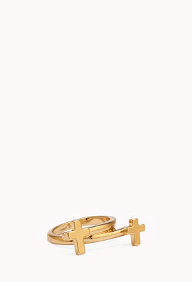 Forever 21 Mirrored Cross Ring
