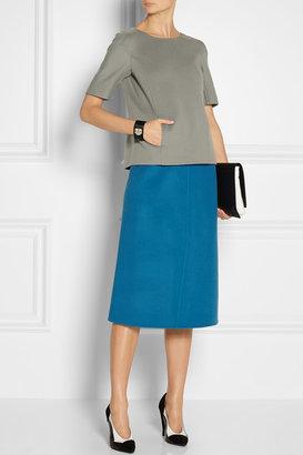 Jil Sander Poesia double-faced wool-fleece skirt