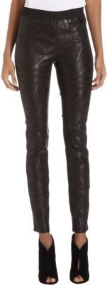 Twelfth St. By Cynthia Vincent by Cynthia Vincen Embossed Leather Leggings