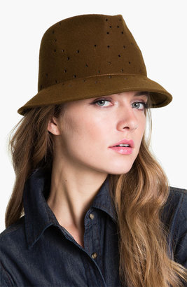 Tarnish Perforated Wool Fedora
