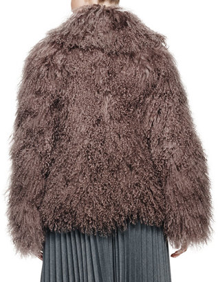 Milly Richelle Mongolian Lamb Fur Jacket
