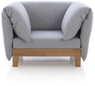 Crate & Barrel Party Lounge Chair with Arm Cushions