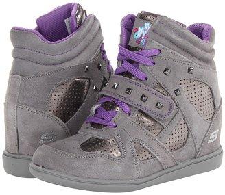 Skechers Double Trouble 80190L (Little Kid/Big Kid) (Grey) - Footwear
