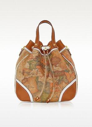 Alviero Martini Geo Costiera White Print Bucket Bag