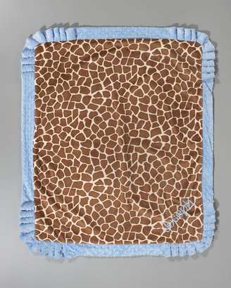 Swankie Blankie Giraffe-Print Receiving Blanket, Plain