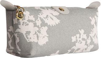 Apple & Bee Compact Cosmetic Bag, Japan Silver Glitter 1 ea