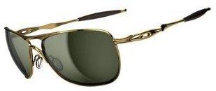 Oakley Crosshair Sunglasses Polished Gold/Dark Grey, One Size