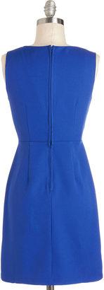 Daring in Blue Dress
