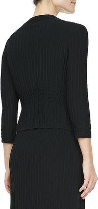 Tory Burch Klara Textured Knit Cardigan