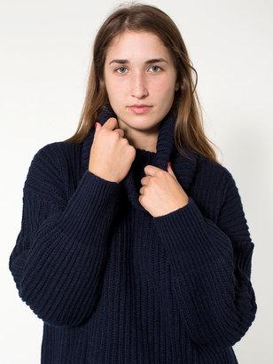American Apparel Unisex Oversized Fisherman Turtleneck Sweater