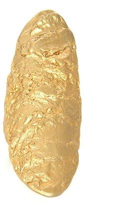 Rose Pierre - Banyan Tree Bark Long Finger Ring - Gold
