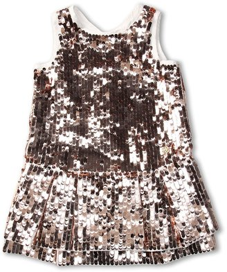 Roberto Cavalli Y71042 Y1040 Sleeveless Sequin Dress (Toddler/Little Kids) (Pink) - Apparel