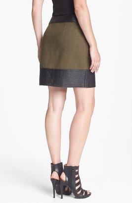 Rachel Roy Raw Edge Tweed Miniskirt