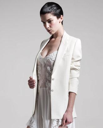Givenchy Two-Button Grain de Poudre Jacket