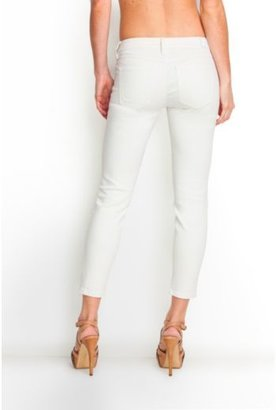 GUESS Brittney Cropped White Jeans