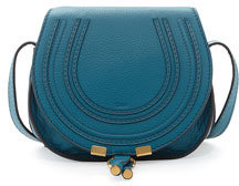 Chloé Marcie Small Crossbody Satchel Bag, Blue