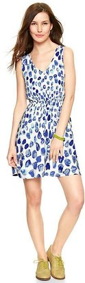 Gap Printed V-neck dress