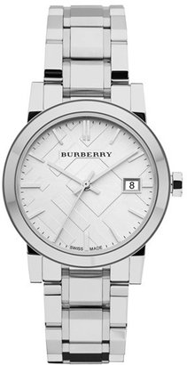 Burberry Medium Check Stamped Bracelet Watch, 34mm $495 thestylecure.com
