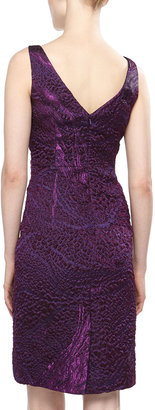 Theia Textured Organza Cocktail Dress, Amethyst